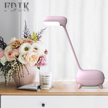 7W LED Desk Lamp Eye Protection Dimmable Adjustable Reading Light Battery Included LED Night Lamp Brightness цена 2017