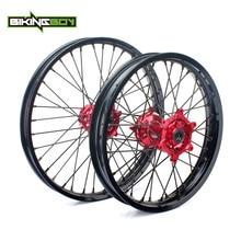 "BIKINGBOY MX 21"" 19"" Front Rear Wheel Rim Hub Set 36 Spokes For HONDA CRF 250 R 2014 2015 2016 2017 2018 19 CRF 450 R 2013 2019"