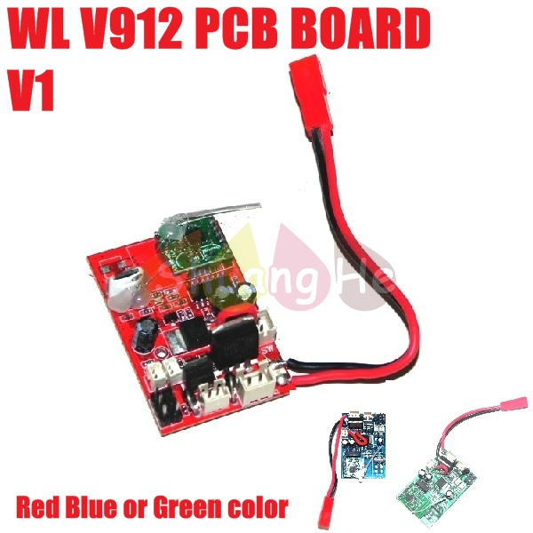 Receiver PCB Board For WL Wltoys V912 Toys 2.4Ghz RC Helicopter ...