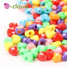 Hair-Rings Dreadlock Beads Heart-Shaped-Beads Cuff Braided Colorful Fashion 50-150pcs