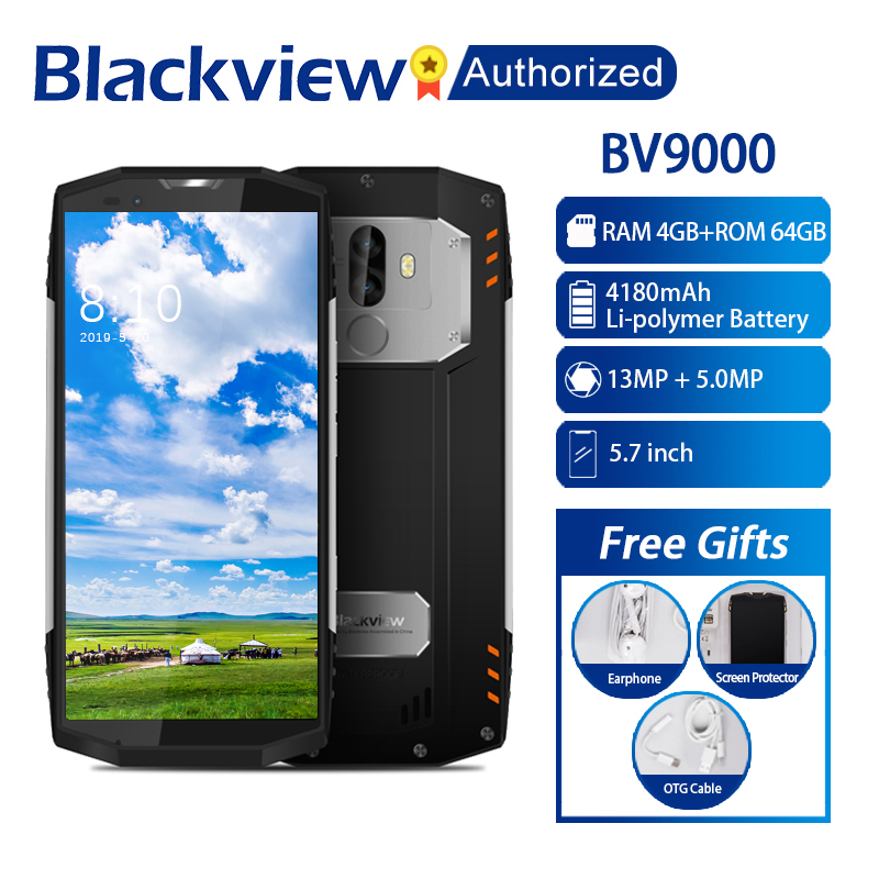 "Blackview BV9000 IP68 Waterproof Shockproof Mobile Phone Android 7.1 5.7"" Screen 4GB RAM 64GB MT6757CD Octa core NFC 4G OTG 13MP"
