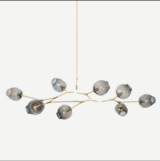 NEW Lindsey Adelman 8 Globe Glass Annular Modern Contemporary Chandelier Lamp Pendent Lightr Edison light bulb