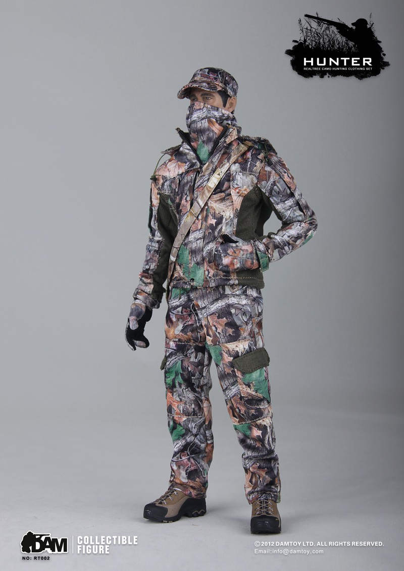 1/6 Scale Realtree CAMO Hunting Clothes Set Hunters Camouflage Suit for 12 inches Male Body Figure vinyl wraps decals camo nature realtree hunting game sticker for truck jeep size 1 50 30m roll