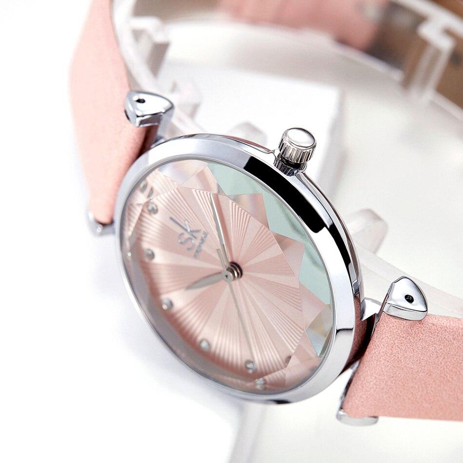 SK Luxury Brand Leather Ladies Wrist Watches Women Prism Quartz Watch For SHENGKE Female Clock reloj mujer 2019 relogio feminino (12)