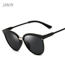 JAXIN 2019Fashion round lady sunglasses coated half women brand design trend wild glassesUV400 lentes de sol mujer