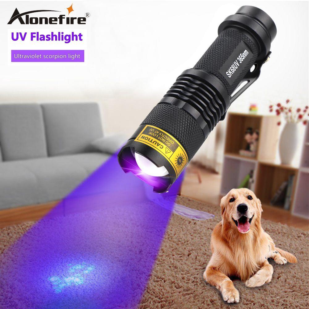 UV 395Nm Led Flashlight Purple Money detection Backlight Ultraviolet Torch light