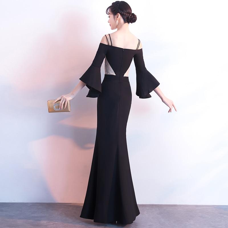 Lacet Gratuating Femmes Courroie Longue Nouvelles Noir Pour 2018 Soirées A59 Up Parti Proms Robes De Robe Cérémonie Gala Spaghetti Date Élégant 7rqx7AY