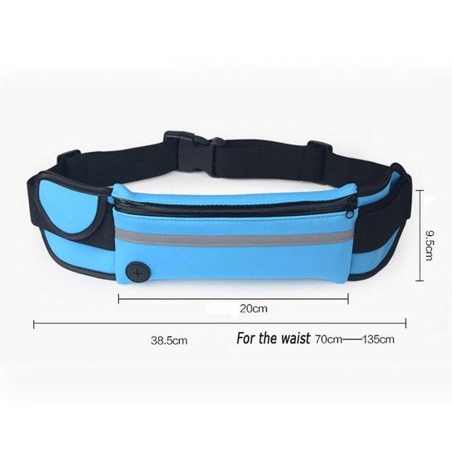 Outdoor Running Waist Bag Waterproof  Mobile Phone Holder Jogging Belt Belly Bag Women Gym Fitness Bag Lady Sport Accessories 5