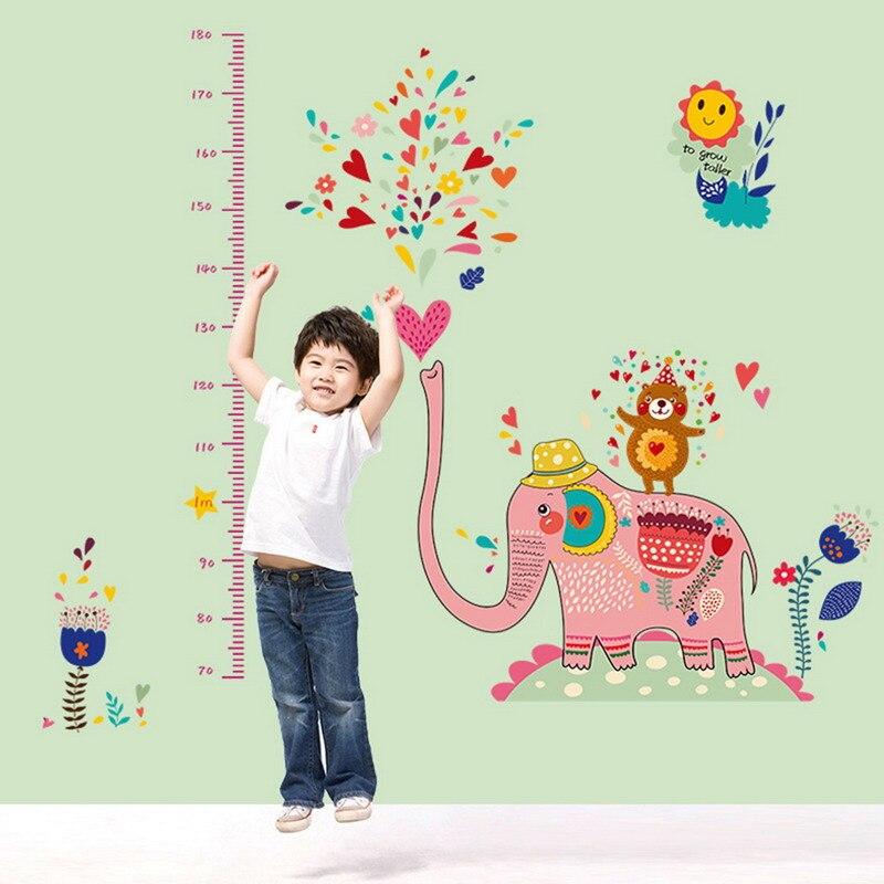 Catroon измерить высоту Стикеры стены Стикеры домашнего декора для номеров дети высота правитель Ростомер стены Книги по искусству Стикеры пл...