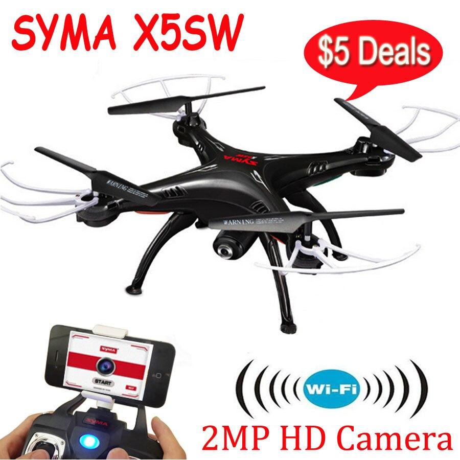 Syma X5SW X5SW-1 2.4G 6-Axis Gyro 2.4G 4CH Real-time Images Return RC FPV Quadcopter drone WIFI with HD Camera fq777 rc drone dron 4ch 6 axis gyro helicopter wifi fpv rtf rc quadcopter drones with camera toy fq777 fq10a vs syma x5sw x5sw 1