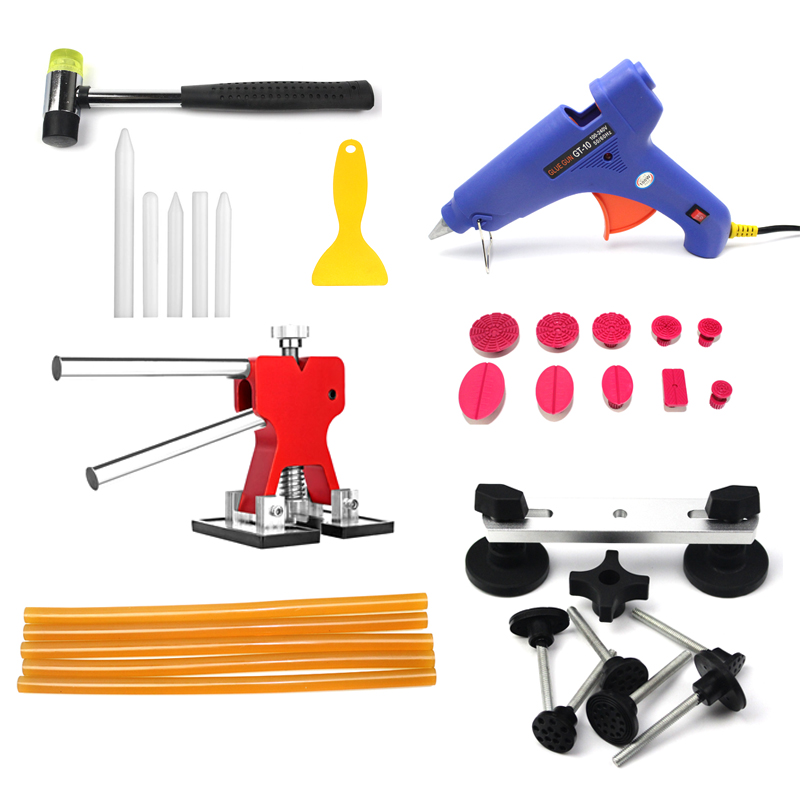 Paintless Dent Removal Puller Lifter PDR Tools Hail Repair T Bar Hammer Kit 31pcs 147 pcs portable professional watch repair tool kit set solid hammer spring bar remover watchmaker tools watch adjustment