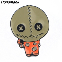 P3913 Dongmanli Fashion Cute Trick R Treat Metal Enamel Brooches and Pins Collection Lapel Pin Badge Jewelry Accessories