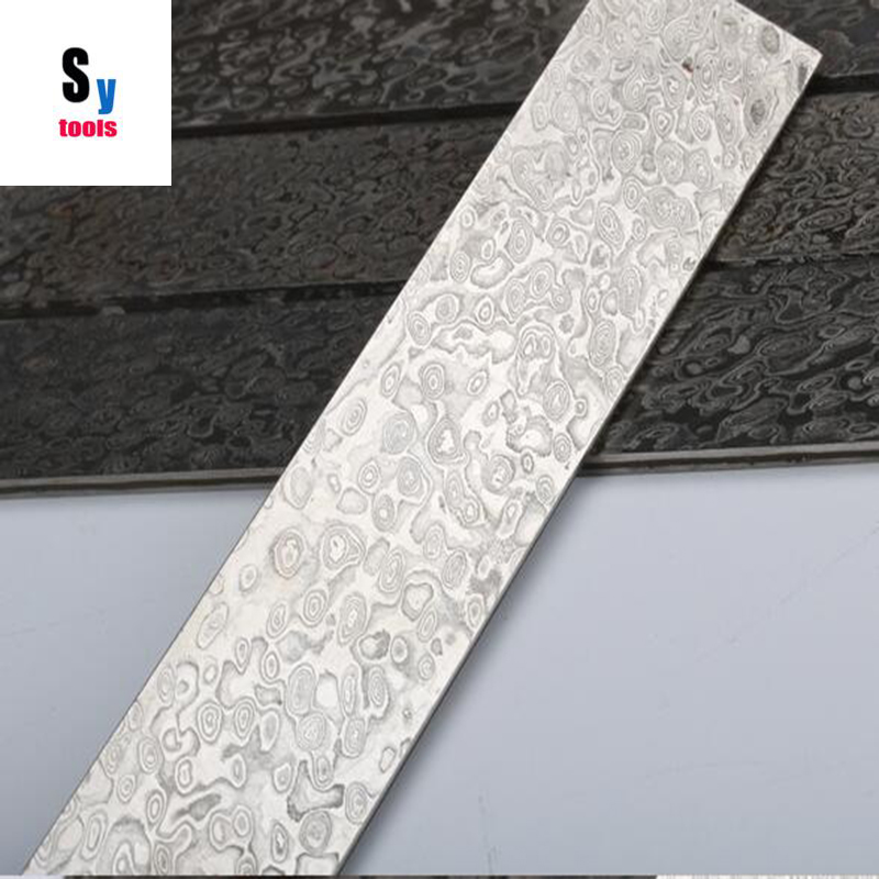 Sy tools  DIY knife China produce Damascus steel  Pattern-welded VG10 Knife blade blank Heat Treatment did (No pickling) knife saw rivet cutter blade produce