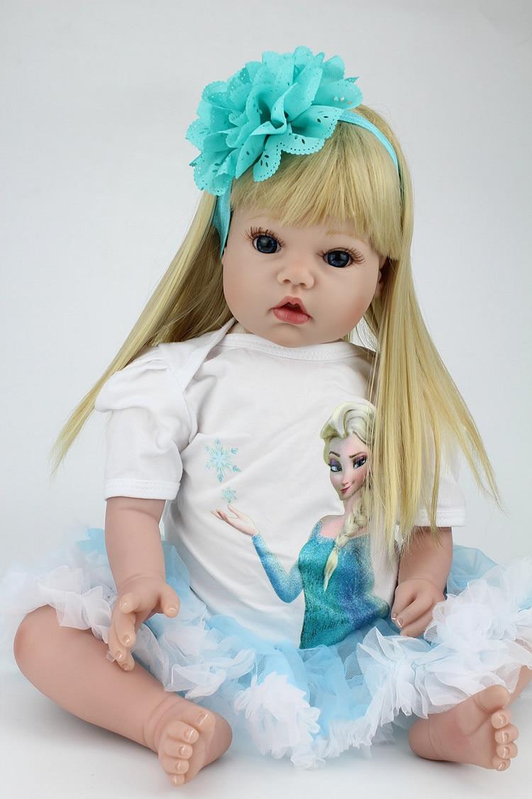 """20 pulgadas de silicona Reborn Baby Doll 20 """"Princesas girl muñeca pelo rubio muñeca juguetes para niños regalo reborn realista boneca-in Muñecas from Juguetes y pasatiempos on AliExpress - 11.11_Double 11_Singles' Day 1"""