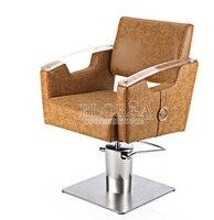 Özel yeni kuaför sandalyesi. Kuaför koltuğu asansörü. Hidrolik sandalye