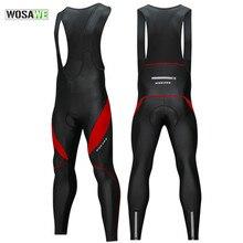 Зимние флисовые Мужские штаны для велоспорта с нагрудником теплые Светоотражающие MTB велосипедные колготки для велоспорта брюки для велоспорта MTB штаны с 3D гелевой подкладкой