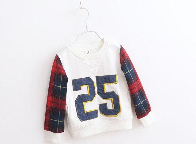 5 шт. / lot весна мальчики-младенцы длинный рукав T - рубашки дети длинный рукав хлопок рубашки дети весна одежда