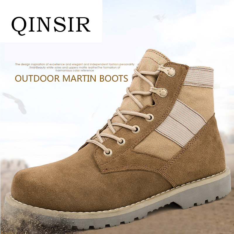 Men's Boots Bright 2018 New Men Military Bots Tactical Boots Desert Combat Outdoor Bot Army Hiking Boots Leather Autumn Ankle Boots Winter Boots