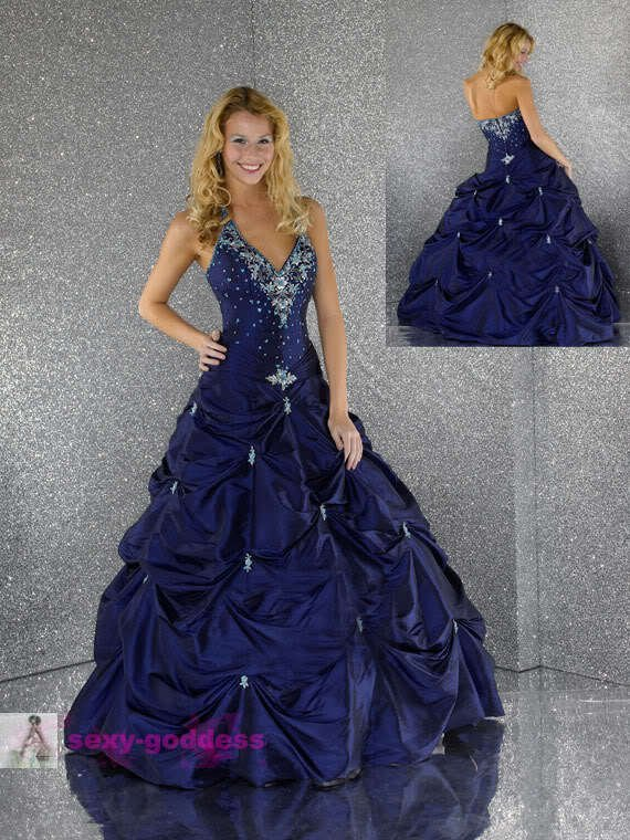2015 new Blue Graduation Dresses  Bridal Gown cocktail dress Custom Size  6 8 10 12 14 16