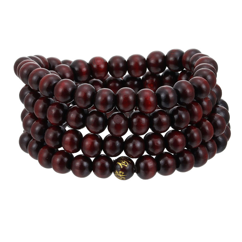 Image 4 - High Quality 6mm 8mm Natural Sandalwood 108 Wood Beads Buddha 
