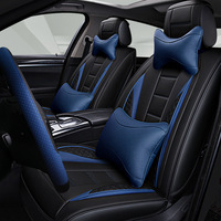 Fashion Leather Car Seat Cover Autumn and Winter new/Universal Automobiles Covers for Car Seat Cushion Cloak fit Most Cars