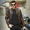 Stand Collar Men Motorcycle Pu Jackets Brand Clothing Fashion Male Autumn Slim Fit Solid Color Men'S Jackets Wt1041