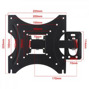 Image 2 - 35KG Adjustable 14 42 Inch TV Wall Mount Bracket Flat Panel TV LCD LED Monitor Frame Support 15 Degrees Tilt with Small Wrench