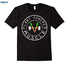 """Plant Powered, Muscle"" Vegan Men's T-Shirt"