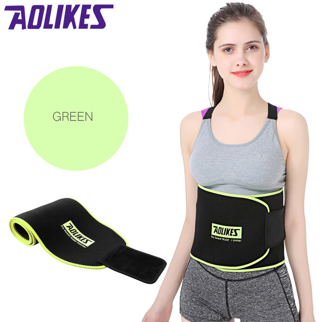 Women Sports Fitness Exercise Waist Band Pro Sweat Waist Trimmer Protector Female Belly Shaper Thin Adjustable Training Belt 4