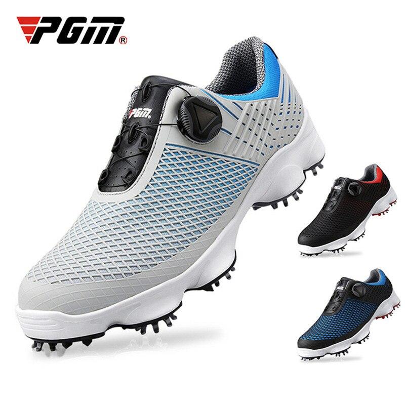 PGM nouvelles chaussures de Golf hommes imperméable respirant antidérapant baskets mâle rotatif lacets sport chaussures à crampons baskets XZ106 - 2