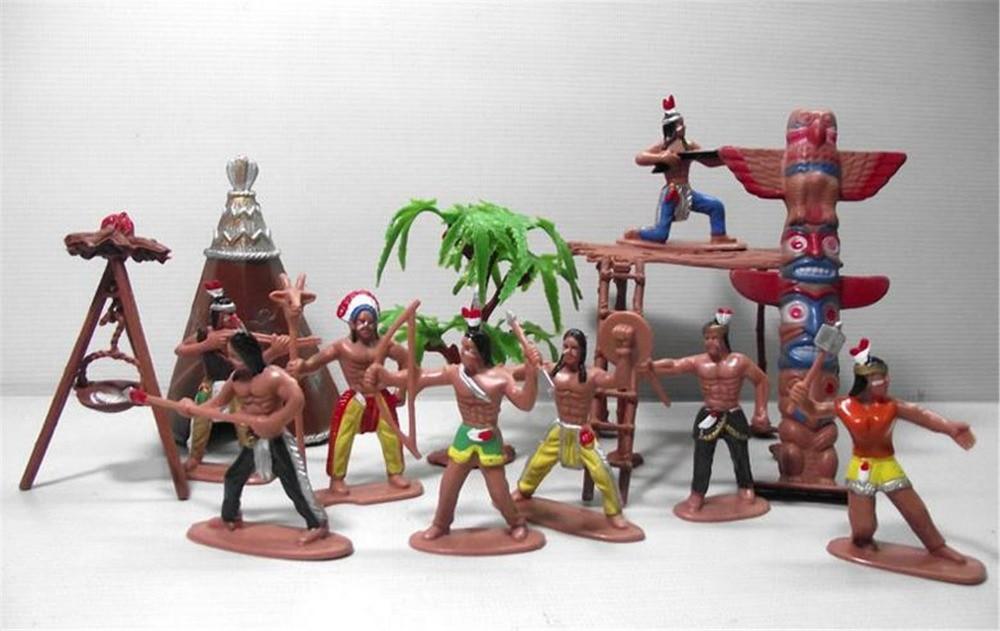 Kids Toys Action Figure: 13pcs/set 2015 Hot Sale Kids Toys Anime Indians Tribe