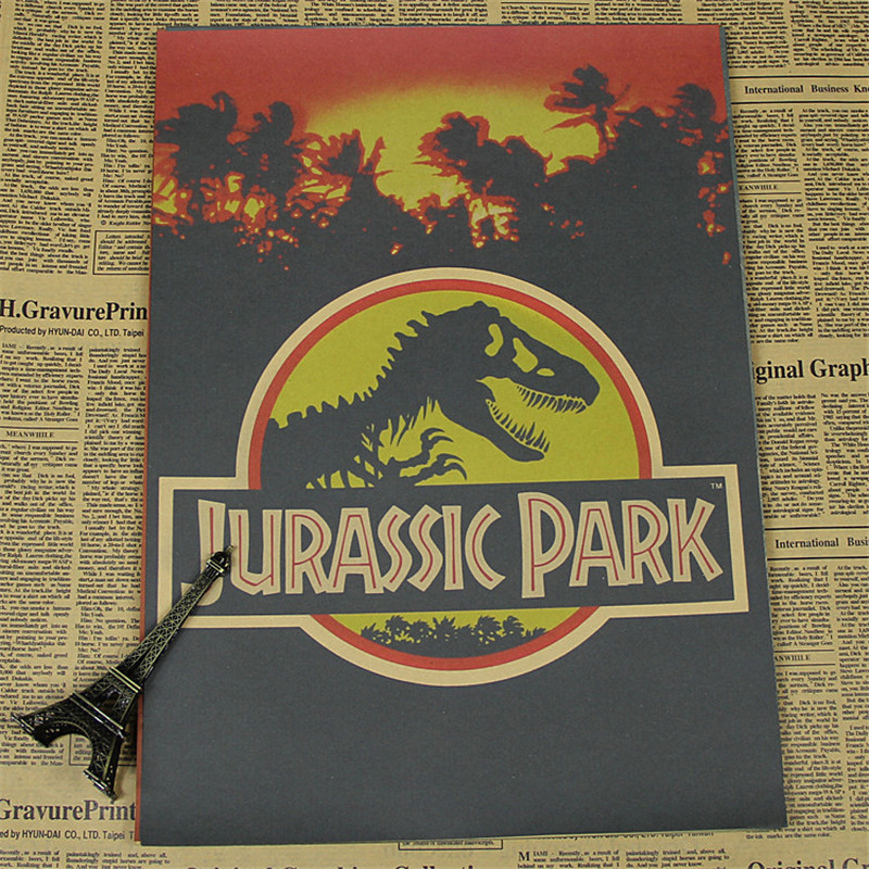 Vintage Home Decor Poster Kraft Paper Jurassic Park For Wall Pictures Living Room House Cafe Bar Art Craft HB 049