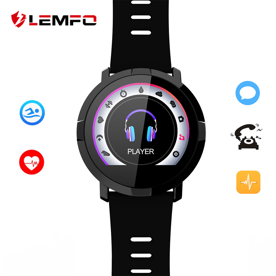 LEMFO Smartwatch Pedometer Heart Rate Blood Pressure Monitor Smart Watch Various Sports Modes Waterproof Smart Watches multiple smart watch sports modes bluetooth gps heart rate monitor two side straps sports business smartwatch