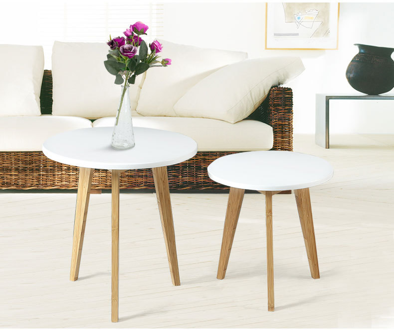 Small Side Table Coffee Table Lobby Furniture Desk Magazine Table White  Bamboo Natural Color In Coffee Tables From Furniture On Aliexpress.com |  Alibaba ...