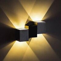Настенный свет Алюминиевый 6 Вт для спальни современного LED Бра светодиодный настенный светильник алюминиевый прохода Спальня Коридор бесп