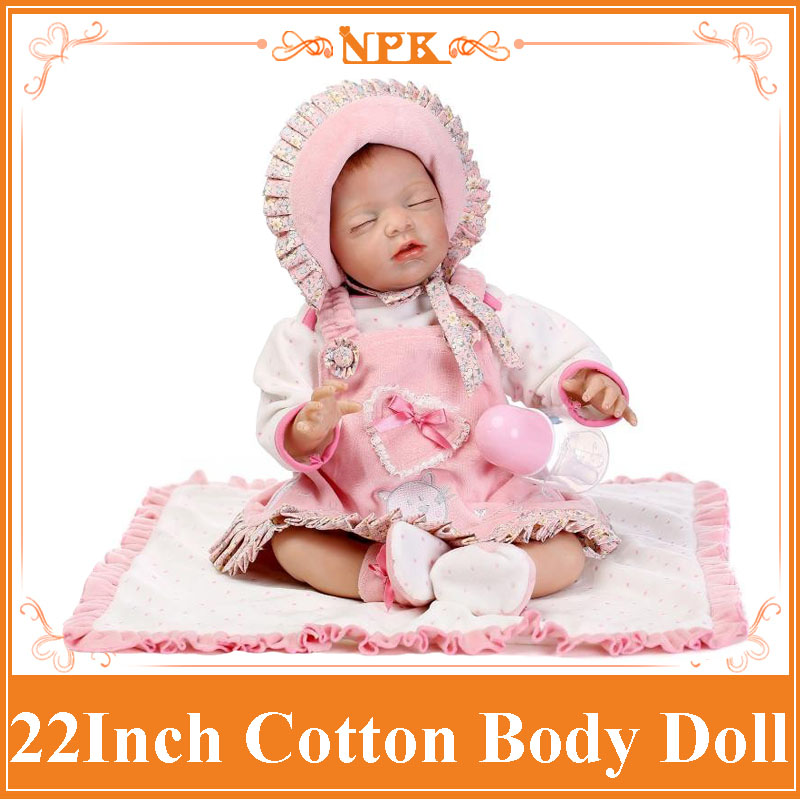 Adora 22inch 55cm Real Baby Baby Doll With Cotton Blended Fabric Dress Princess Like Sleeping Benecas Meninas As Christmas Doll