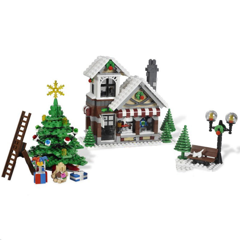LEPIN 36002 1005pcs Cinderella's Christmas Hut Winter Toy Store 10249 Creative Series Building Blocks Toys Model As Gift lepin 36002 1005pcs street view series winter toy store christmas model building blocks set bricks toys for children gift 10249