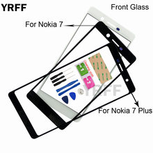 (No Mobile Touch Screen) Outer Glass For Nokia 7 Plus 7plus Front Glass Panel Replacement(China)