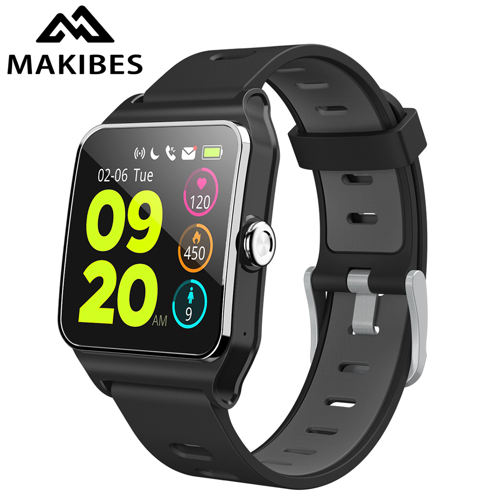 Makibes BR3 GPS 17 sortes sport montre intelligente hommes IP68 étanche appareils portables Bluetooth Strava Fitness Tracker Bracelet