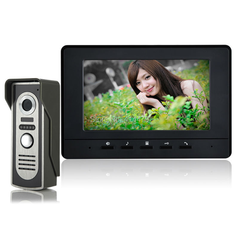 High quality Home Wired Video Door Phone Intercom System one 7 inch TFT Monitor and 700TVL Rain Proof infrared Camera 10 inch tft color video door phone intercom entry system black color video door bell monitor without outdoor camera high quality