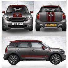 Автомобильный капот, двигатель, багажник, боковая юбка, полоски, наклейки для Mini Cooper S JCW Clubman F54 F55 F56 R56 R60, автомобильные аксессуары