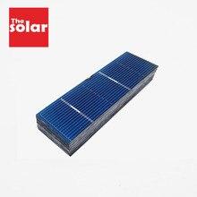 50PCS Solar Panel 5V 6V 12V Mini Solar System DIY For Battery Cell Phone Chargers Portable Solar Cell 78x26mm 0.5V 0.37W