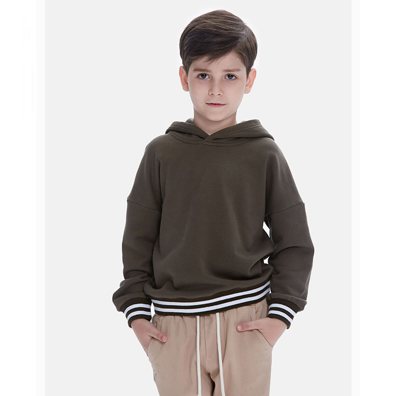 Fashion Long Sleeve Tshirt Boys Clothes Hoodies Sweater For Kids Striped Boys Sweatshirt Teenage Pullover HS17