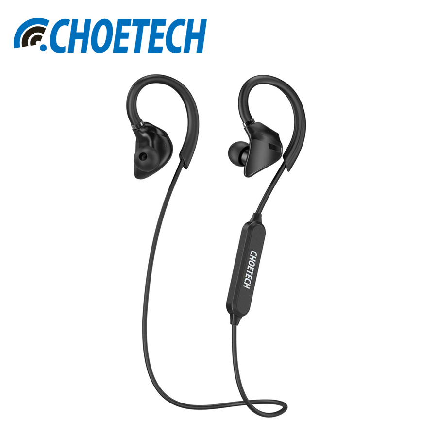 CHOETECH Wireless Bluetooth Earphones V4.1 Sweatproof Sports Headphones With Built-in Mic In Ear Earbuds For iPhone Samsung new fashion sweatproof wireless bluetooth v4 0 sports stereo headphones with mic ear hook earbuds earphones for iphone for sony
