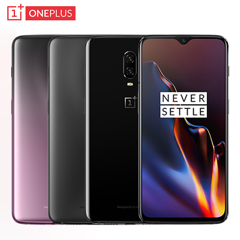 "Original OnePlus 6T Mobile Phone 6.41"" 6GB/8GB RAM 128GB/256GB ROM Snapdragon 845 Octa Core 16MP+20MP Dual Camera NFC Smartphone"