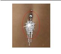 2015 Belly Piercing 316l Surgical Steel Tassel Dangle Navel Belly Button Ring Bar Piercing Punk Rock