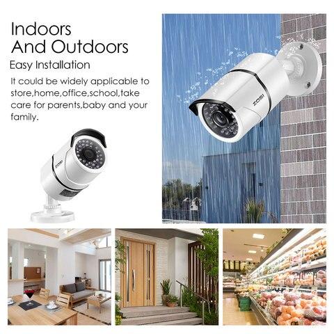ZOSI 2.0 MP 1080P 4 in1 TVI/CVI/AHD/CVBS Security Cameras Day Night Surveillanca Camera 100ft IR Distance,Aluminum Metal Housing Lahore