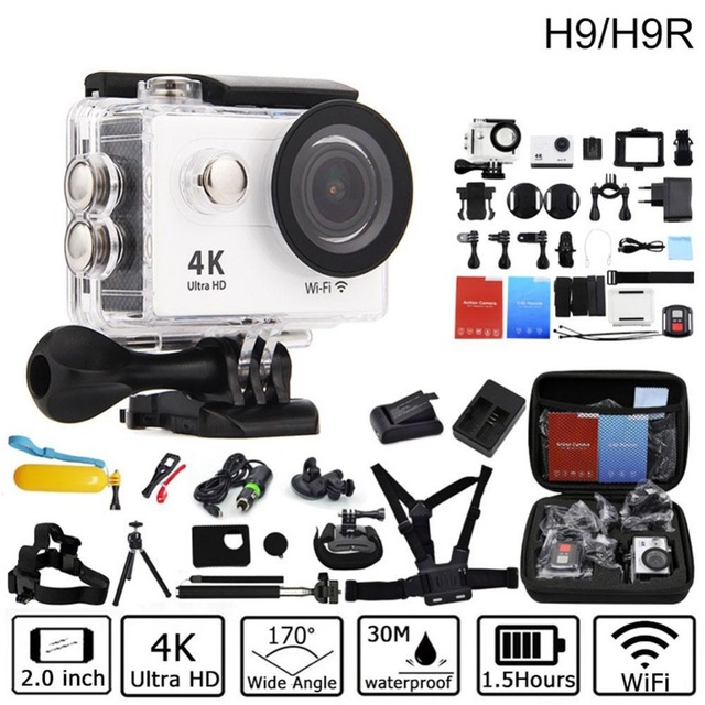 Action camera deportiva Original For EKEN H9/H9R remote Ultra HD 4K WiFi 1080P 60fps 2.0 LCD 170D sport go waterproof pro camera
