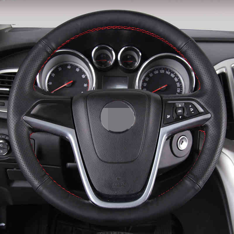 Black Artificial Leather Car Steering Wheel Cover for Buick Excelle XT GT Encore Opel Mokka