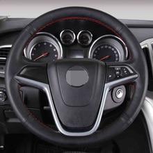 Negro de Cuero Artificial Cubierta Del Volante Del Coche para Buick Excelle XT GT Encore Opel Mokka